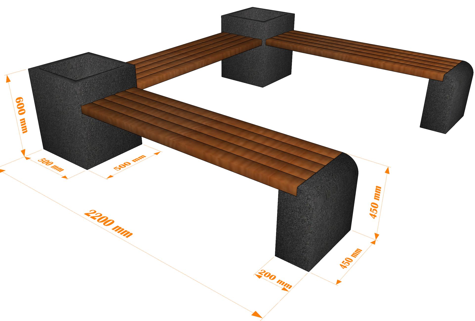 скамейка с бетоном в саду